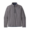 Patagonia Mens Better Sweater 1/4 Zip Imprint: Stonewash