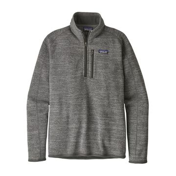 Patagonia Mens Better Sweater 1/4 Zip Nickel
