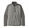 Patagonia Mens Better Sweater 1/4 Zip Nickel w/ Forge Grey