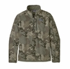 Patagonia Mens Better Sweater 1/4 Zip River Delta Multi: Industrial Green (Close Out)