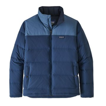 Patagonia Mens Bivy Down Jacket Stone Blue w/ Woolly Blue (Close Out)