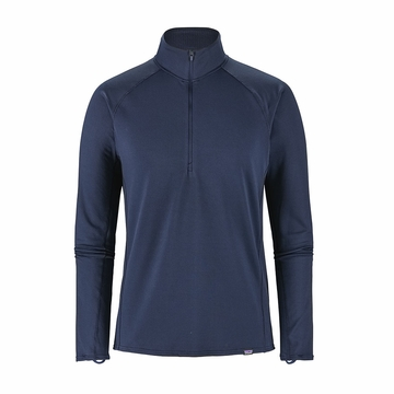 Patagonia Mens Capilene Midweight Zip-Neck Navy Blue