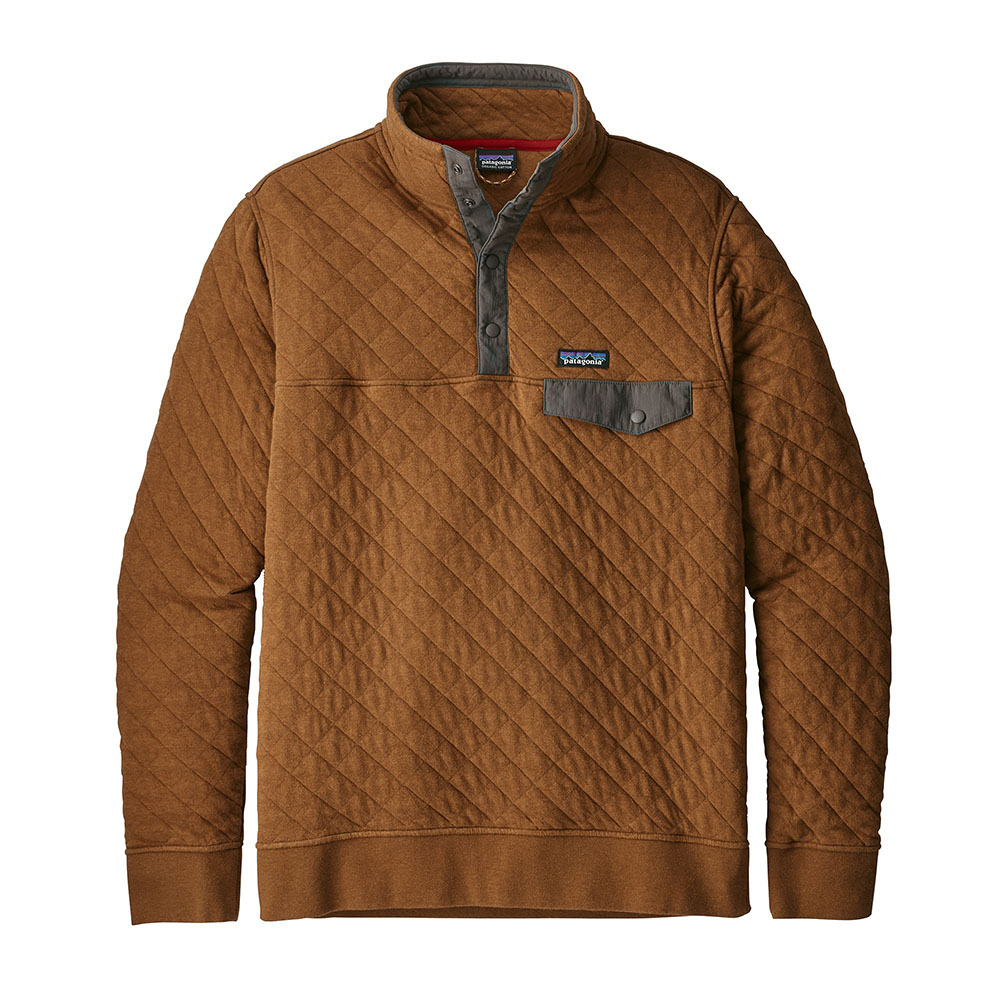 Patagonia Mens Cotton Quilt Snap T Pullover Bence Brown