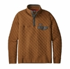 Patagonia Mens Cotton Quilt Snap-T Pullover Bence Brown