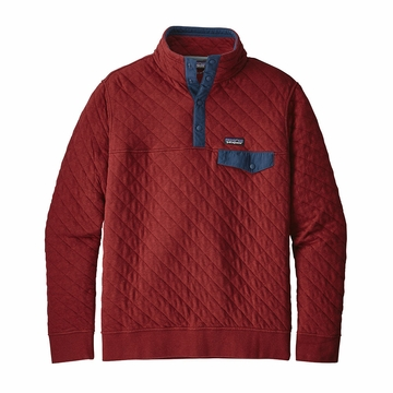 Patagonia Mens Cotton Quilt Snap T Pullover Oxide Red