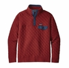 Patagonia Mens Cotton Quilt Snap-T Pullover Oxide Red