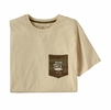 Patagonia Mens Defend Public Lands Organic Pocket T-Shirt Oyster White (Close Out)