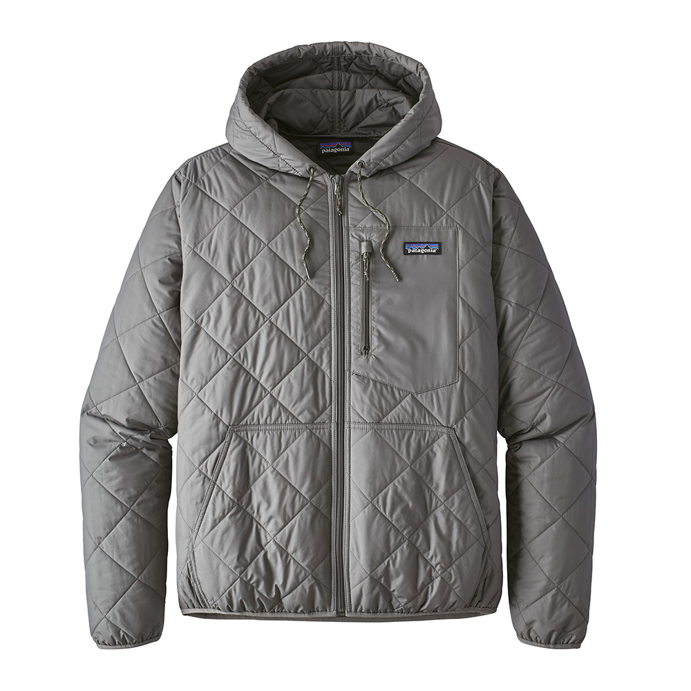 Patagonia Mens Diamond Quilt Bomber Hoody Hex Grey Close Out