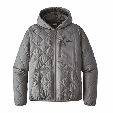 Patagonia Mens Diamond Quilt Bomber Hoody Hex Grey (Close Out)