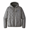Patagonia Mens Diamond Quilt Bomber Hoody Hex Grey