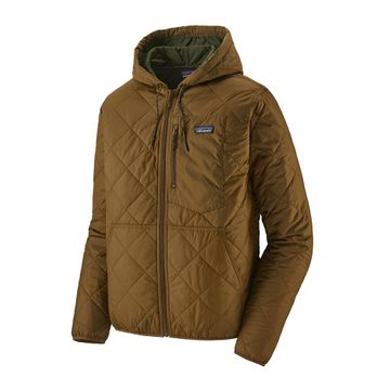 Patagonia Mens Diamond Quilted Bomber Hoody Owl Brown