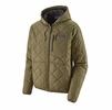 Patagonia Mens Diamond Quilted Bomber Hoody Sage Khaki (Close Out)