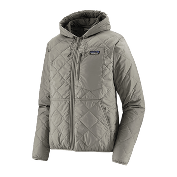 Patagonia Mens Diamond Quilted Bomber Hoody Salt Grey