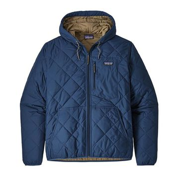 Patagonia Mens Diamond Quilted Bomber Hoody Stone Blue