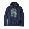 Patagonia Mens Fed Up With Melt Down Uprisal Hoody Classic Navy (Close Out)