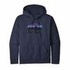 Patagonia Mens Fitz Roy Bison Uprisal Hoody Classic Navy (Close Out)