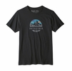 Patagonia Mens Fitz Roy Scope Organic T-Shirt Black