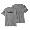 Patagonia Mens Fitz Roy Trout Responsibili-Tee Gravel Heather