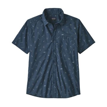 Patagonia Mens Go To Shirt Surfers: Stone Blue