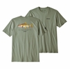 Patagonia Mens Greenback Cutthroat World Trout Responsibili-Tee Celadon