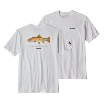 Patagonia Mens Greenback Cutthroat World Trout Responsibili-Tee White