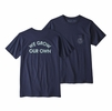 Patagonia Mens Grow Our Own Organic Pocket T Shirt Classic Navy