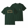 Patagonia Mens Grow Our Own Organic Pocket T Shirt Micro Green (close out)