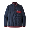 Patagonia Mens Houdini Snap-T Pullover Stone Blue w/ New Navy