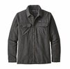 Patagonia Mens Insulated Fjord Flannel Jacket Forge Grey