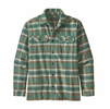 Patagonia Mens L/S Fjord Flannel Shirt Independence: Eelgrass Green