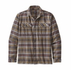 Patagonia Mens L/S Fjord Flannel Shirt Independence: Forge Grey