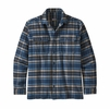 Patagonia Mens L/S Fjord Flannel Shirt Independence: New Navy