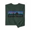 Patagonia Mens L/S P-6 Logo Responsibili-Tee Alder Green (Close Out)