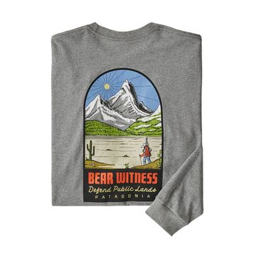 Patagonia Mens L/S See & Believe Responsibili-Tee Gravel Heather (Close Out)
