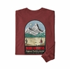 Patagonia Mens L/S See & Believe Responsibili-Tee Oxide Red (Close Out)