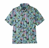 Patagonia Mens Lightweight A/C Shirt Spoonbills: Big Sky Blue