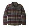 Patagonia Mens Lightweight Fjord Flannel Range Stripe: Black