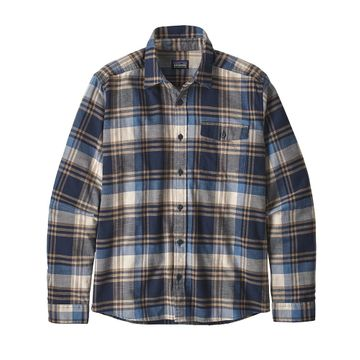 Patagonia Mens Lightweight Fjord Flannel Shirt Buttes: New Navy
