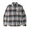 Patagonia Mens Lightweight Fjord Flannel Shirt Buttes: Trailored Grey