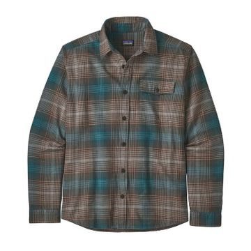 Patagonia Mens Lightweight Fjord Flannel Shirt Canopy: Bristle Brown