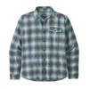 Patagonia Mens Lightweight Fjord Flannel Shirt Grange: Bayou Blue (Close Out)