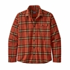 Patagonia Mens Lightweight Fjord Flannel Shirt Lawrence: Hot Ember