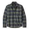 Patagonia Mens Lightweight Fjord Flannel Shirt Lawrence: New Navy