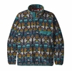 Patagonia Mens Lightweight Synch Snap-T Pullover Cedar Mesa Big: New Navy