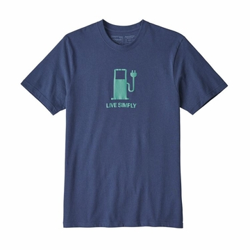 Patagonia Mens Live Simply Power Responsibli-Tee Dolomite Blue  (close out)