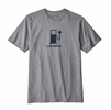 Patagonia Mens Live Simply Power Responsibli-Tee Gravel Heather