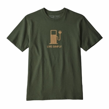Patagonia Mens Live Simply Power Responsibli-Tee Nomad Green