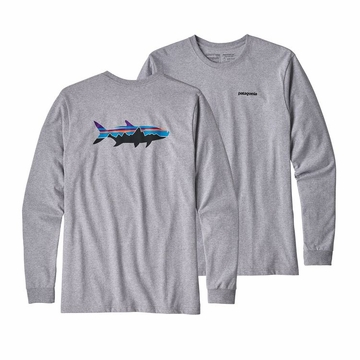 Patagonia Mens Long Sleeve Fitz Roy Tarpon Responsibili-Tee Drifter Grey (close out)
