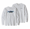 Patagonia Mens Long Sleeve Fitz Roy Tarpon Responsibili-Tee White (close out)