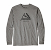 Patagonia Mens Long Sleeve Live Simply Pocketknife Responisibili-Tee Gravel Heather (Close Out)